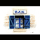 """Bar breton"" - encres et craie grasse © Natacha Latappy - Reproduction interdite"