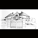 """VILLA BORD DE MER"" - Encre © Natacha Latappy - Reproduction interdite"